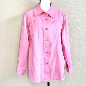 NWOT Quacker Factory Pink Embellished Jacket